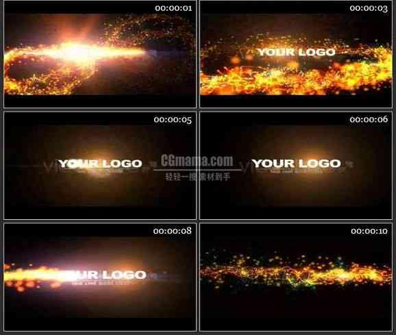 AE0934-金色光线 LOGO展示