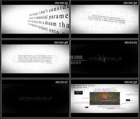 AE0954-黑白色调 图文视频展示