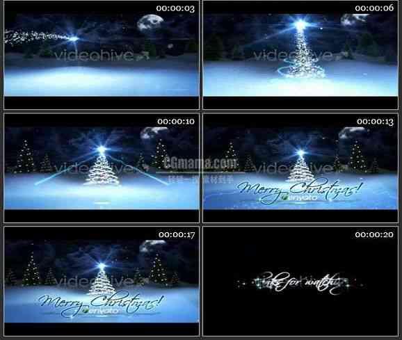 AE0957-圣诞雪景 文本展示