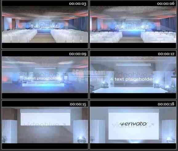 AE0985-会场实景 文本LOGO 展示