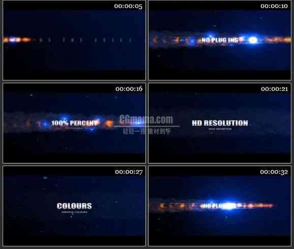 AE0996-宇宙中的烟火特效 文本展示 预告介绍