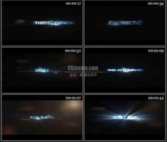 AE1007- 文字展示片头