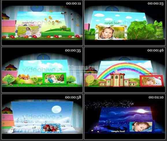 AE1020- 儿童片头-魔法书 相册