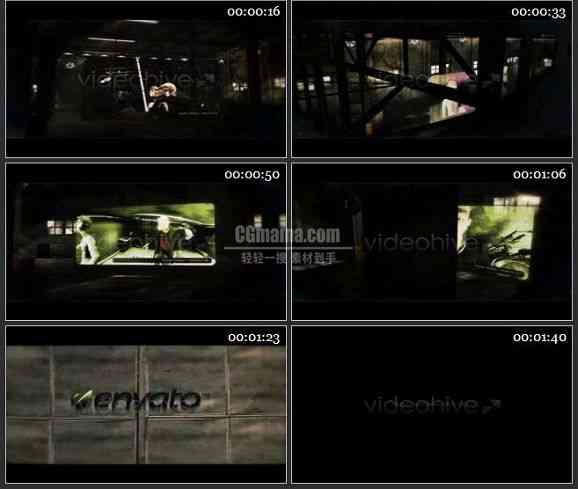 AE1022- 仓库背景电影片头