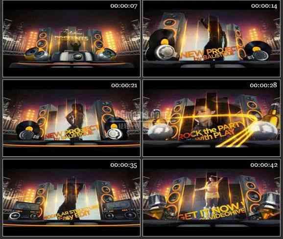 AE1029- 俱乐部晚会宣传片