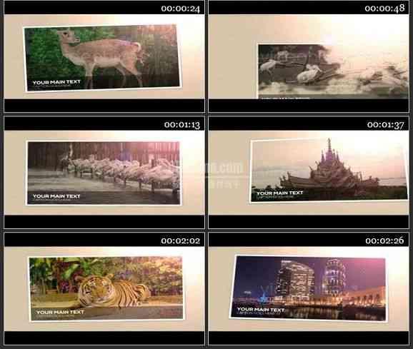 AE1042- 电影相册模板