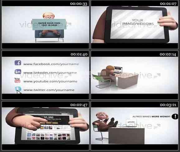AE1048- 动漫效果商业促销模板