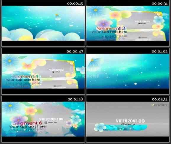 AE1068-清新卡通花朵动画 图文视频展示