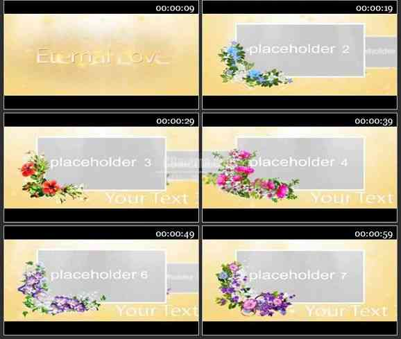 AE1091-田园风格 花卉相册 图片展示