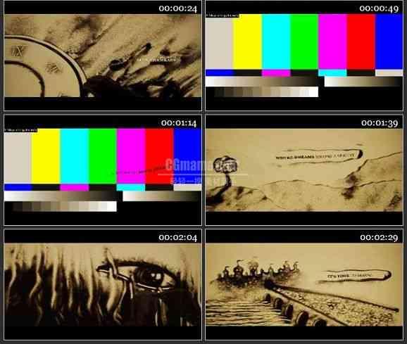 AE1108-沙画动画 文本展示