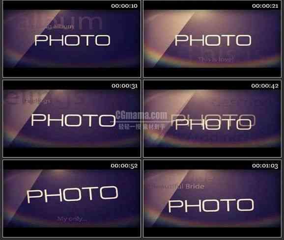 AE1112-婚庆类暖色调 相册图片展示