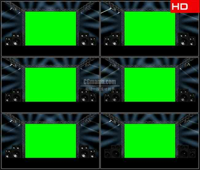 BG0456-视频帧绿幕抠像舞台灯光高清LED视频背景素材