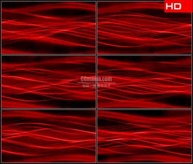 BG0465-翻滚波动红色光线动态背景高清LED视频背景素材
