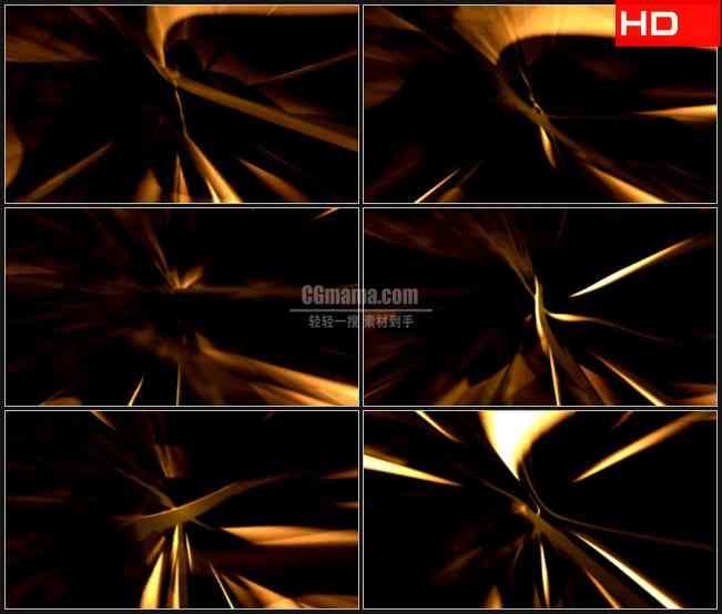 BG0476-金黄色丝带光晕旋转动态背景高清LED视频背景素材