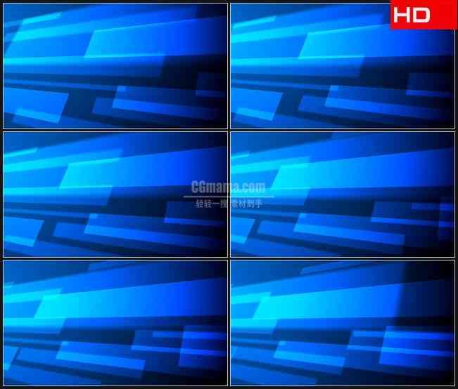 BG0481-蓝色半透明光条运动背景摘要高清LED视频背景素材