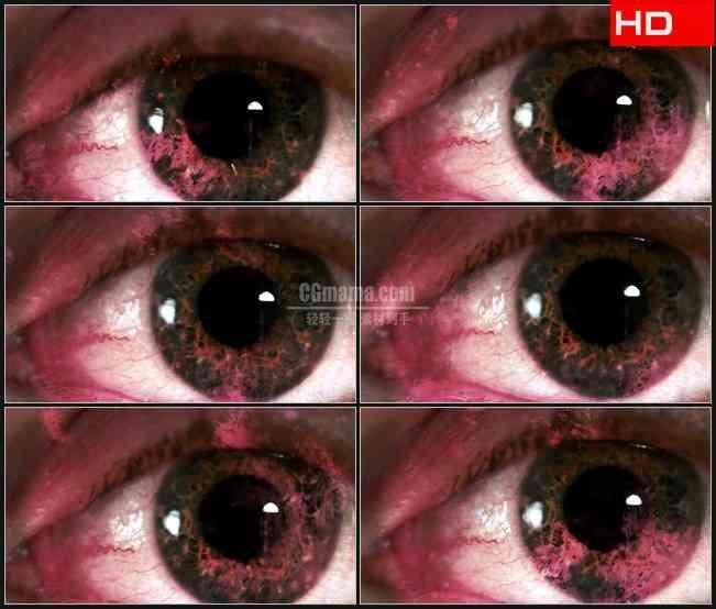 BG0517-大眼睛闪烁特写高清LED视频背景素材