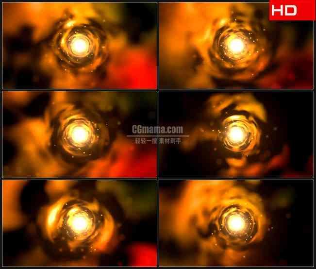 BG0523-金黄色高压放电隧道时空穿越高清LED视频背景素材