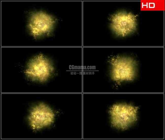 BG0525-橙黄色火球火焰透明通道循环动态背景高清LED视频背景素材