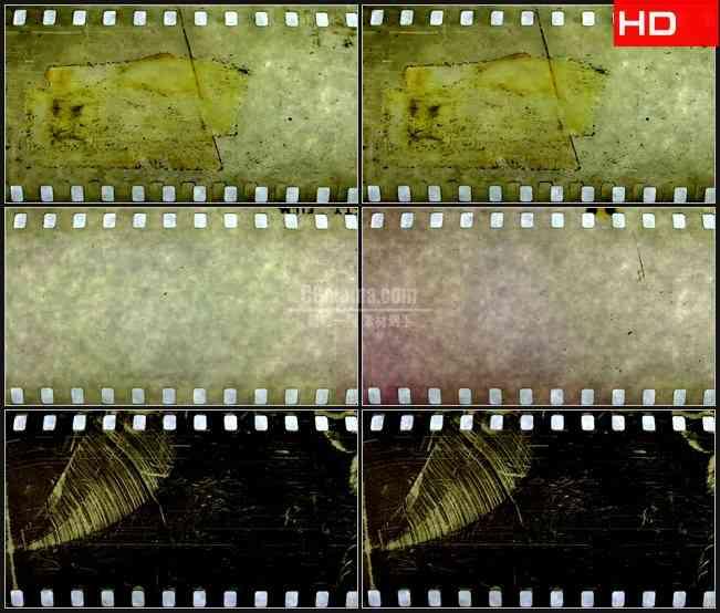 BG0532-肮脏杂质复古老电影胶带滚动高清LED视频背景素材