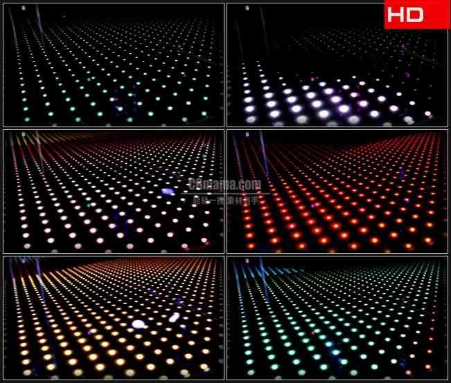 BG0547-LED地板图案圆点波点灯光闪烁舞台背景高清LED视频背景素材