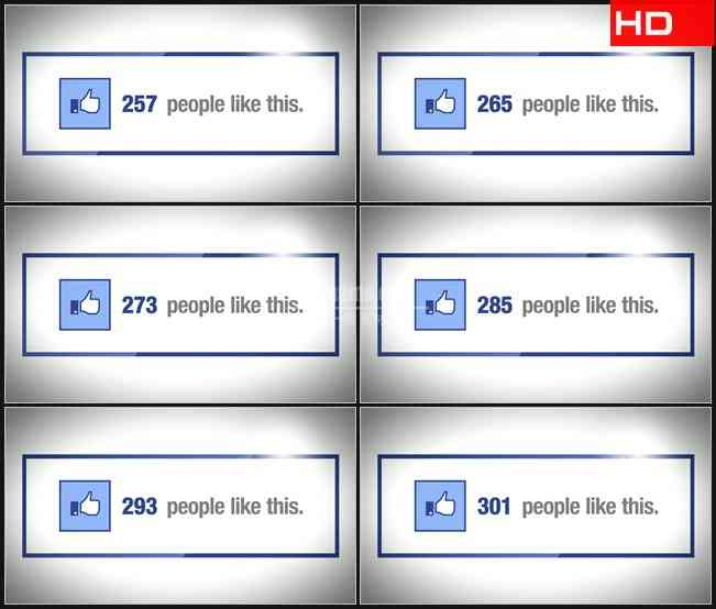 BG0552-facebook脸书使用喜爱人数增加高清LED视频背景素材