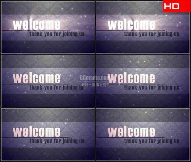 BG0562-欢迎加入英文华丽高清LED视频背景素材
