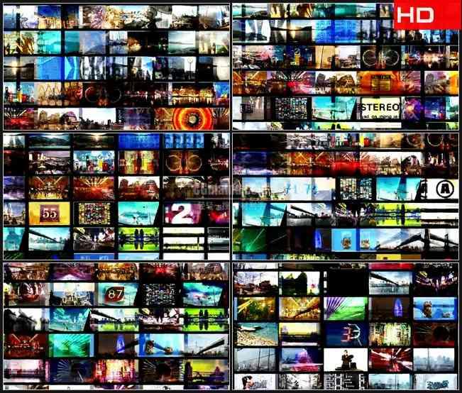 BG0578-混合多媒体屏幕电影动感背景高清LED视频背景素材