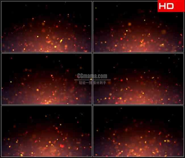 BG0579-粒子火上升气流火星光点跃动高清LED视频背景素材