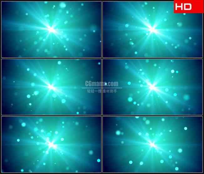 BG0592-蓝色光束斑点粒子飞出高清LED视频背景素材