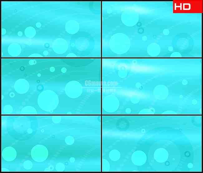 BG0615-水蓝色湖蓝圆圈齿轮印旋转动态背景高清LED视频背景素材