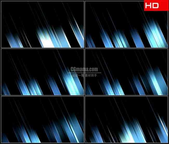BG0616-透明蓝色银灰色斜竖条运动黑色动态背景高清LED视频背景素材