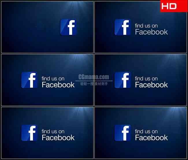BG0617-facebook社交软件图标英文高清LED视频背景素材