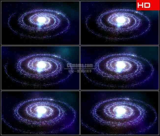 BG0637-紫色星光星系太阳系高清LED视频背景素材