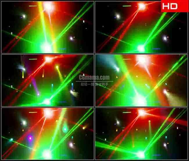 BG0640-酒吧动感酷炫红色绿色激光照射高清LED视频背景素材