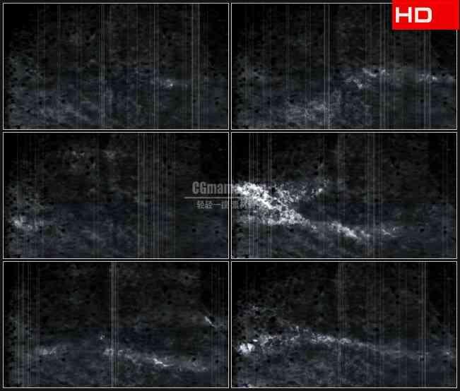 BG0655-旧电影老影像竖条噪波云雾文理动态背景高清LED视频背景素材