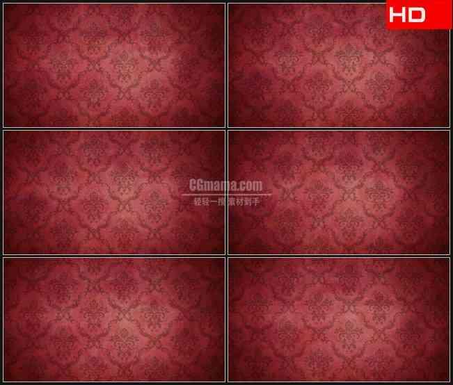 BG0658-红铜色欧式皇家复古花纹动态背景高清LED视频背景素材