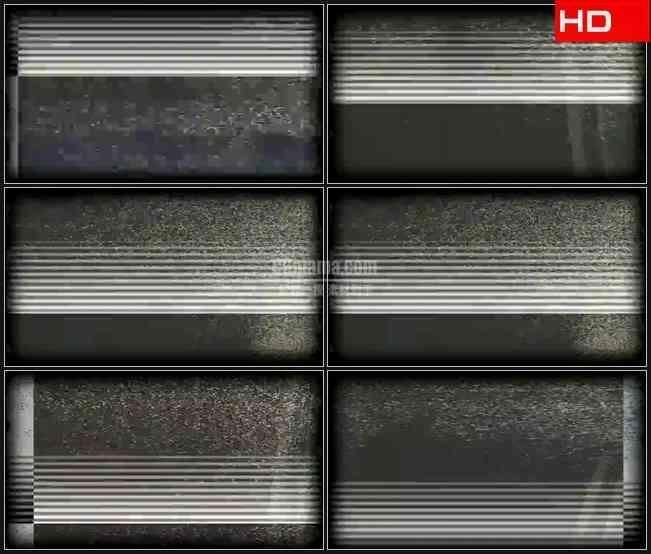 BG0663-电视信号视频干扰横条纹噪波高清LED视频背景素材