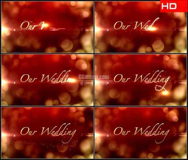 BG0668-爱情宣言 红色背景橙色光晕高清LED视频背景素材