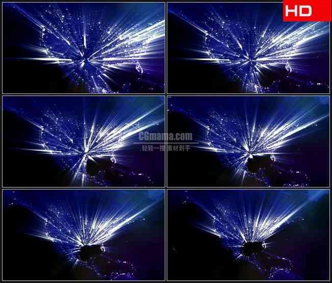 BG0675-北美洲版图粒子光线照耀高清LED视频背景素材