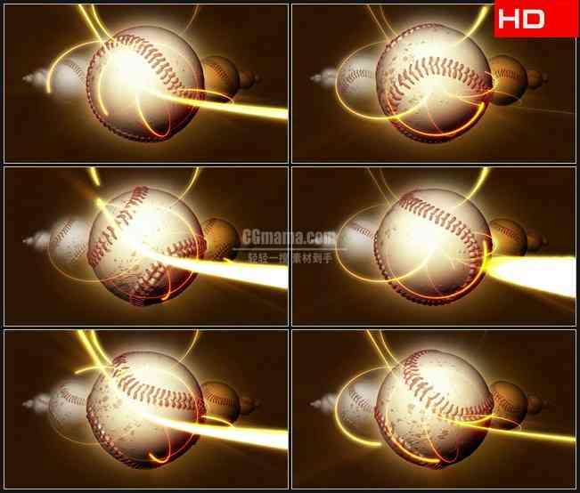 BG0691-体育运动棒球金色光束高清LED视频背景素材