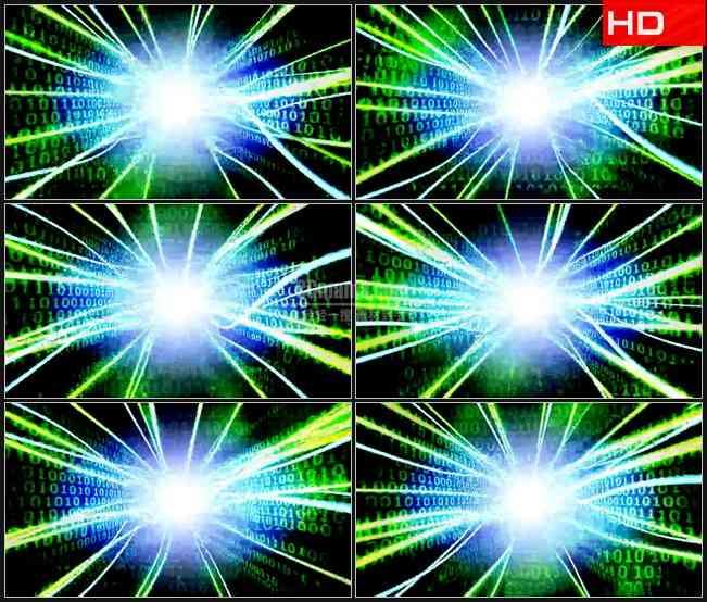 BG0697-计算机神经中心二进制数据计算运行高清LED视频背景素材