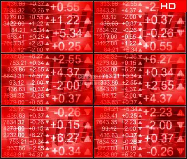 BG0705-红色背景股市数据大盘金融经济高清LED视频背景素材