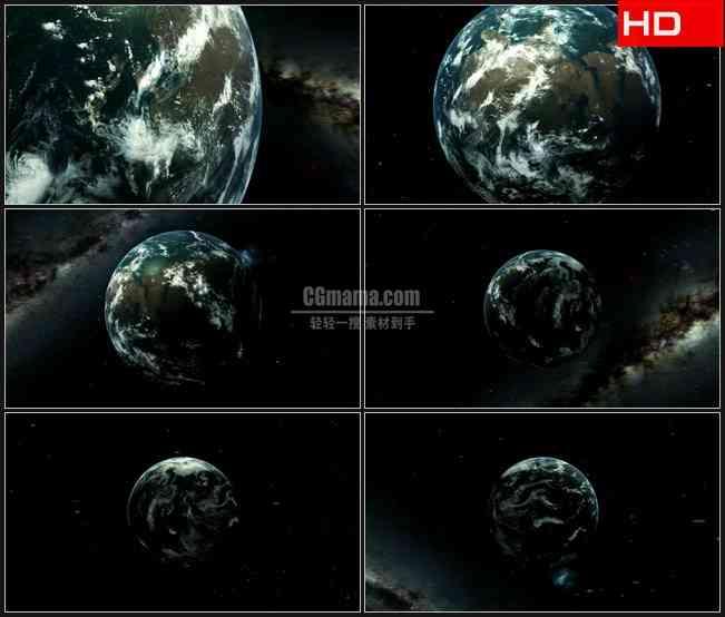 BG0711-变焦地球动画特写旋转高清LED视频背景素材