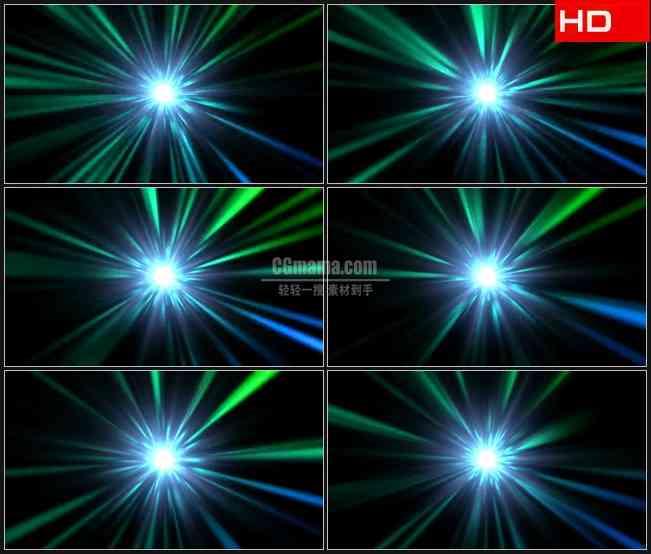 BG0714-光的隧道绿色光束动态背景高清LED视频背景素材