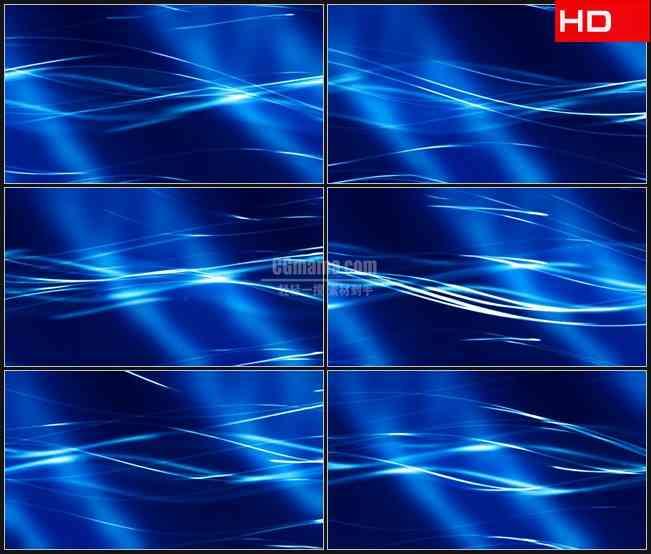 BG0727-电光流蓝色波浪动态背景高清LED视频背景素材
