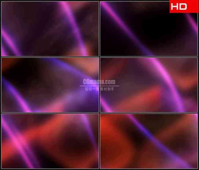 BG0732-模糊粉红红色光影光晕动态背景摘要高清LED视频背景素材
