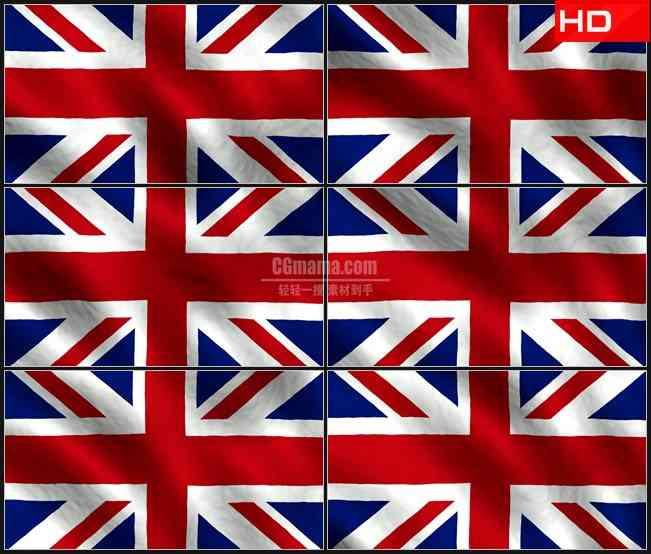 BG0735-英国国旗飘动特写背景高清LED视频背景素材