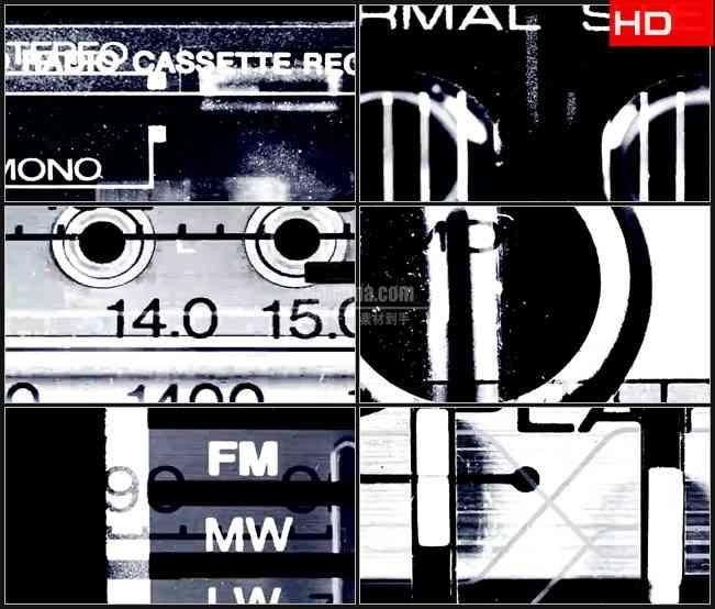 BG0737-Flash播放器黑白动态画面高清LED视频背景素材
