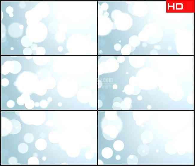 BG0746-大颗粒浮白色光晕淡蓝色背景高清LED视频背景素材
