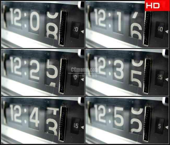 BG0747-电子计数时钟时间高清LED视频背景素材